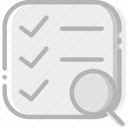 communication, do, interaction, interface, list, search, to icon