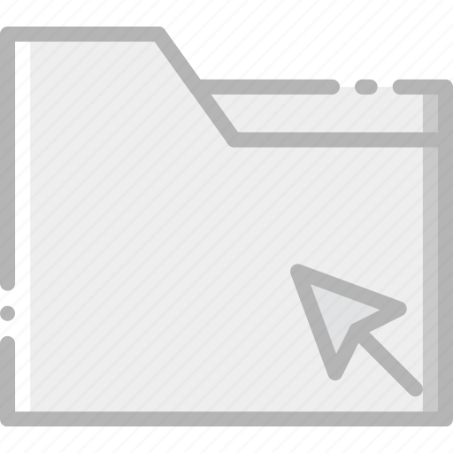 click, communication, folder, interaction, interface icon
