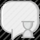 communication, conversation, interaction, interface, loading icon