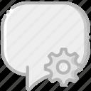 communication, conversation, interaction, interface, settings icon