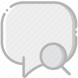 communication, conversation, interaction, interface, search icon