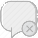 communication, conversation, delete, interaction, interface icon