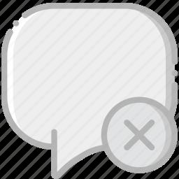 communication, conversation, delete, interaction, interface icon