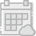 add, calendar, cloud, communication, interaction, interface, to