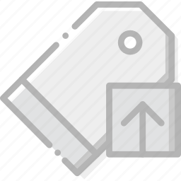 communication, interaction, interface, pricetag, upload icon