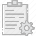 communication, interaction, interface, notes, settings icon