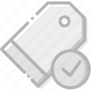 communication, interaction, interface, pricetag, success icon