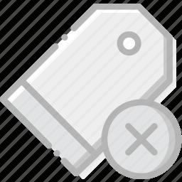 communication, delete, interaction, interface, pricetag icon