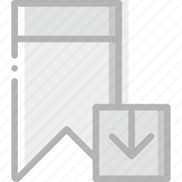 bookmark, communication, download, interaction, interface icon