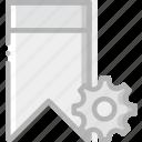 bookmark, communication, interaction, interface, settings