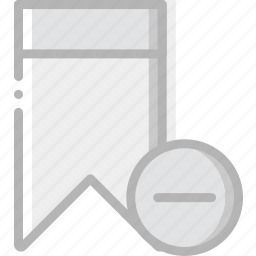 bookmark, communication, interaction, interface, substract icon
