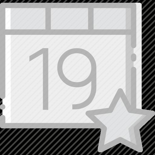 calendar, communication, favorite, interaction, interface icon