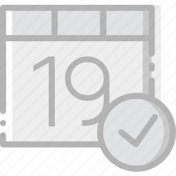 calendar, communication, interaction, interface, success icon