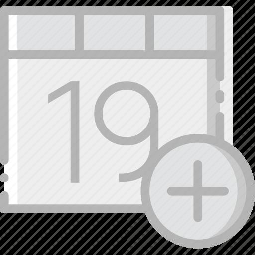 add, calendar, communication, interaction, interface icon