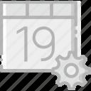calendar, communication, interaction, interface, settings