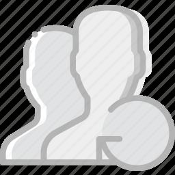 communication, interaction, interface, profiles, refresh icon