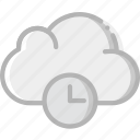 cloud, communication, for, interaction, interface, wait icon