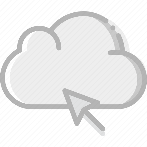 click, cloud, communication, interaction, interface icon