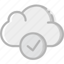 cloud, communication, interaction, interface, success icon