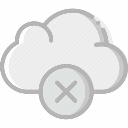 cloud, communication, delete, interaction, interface icon