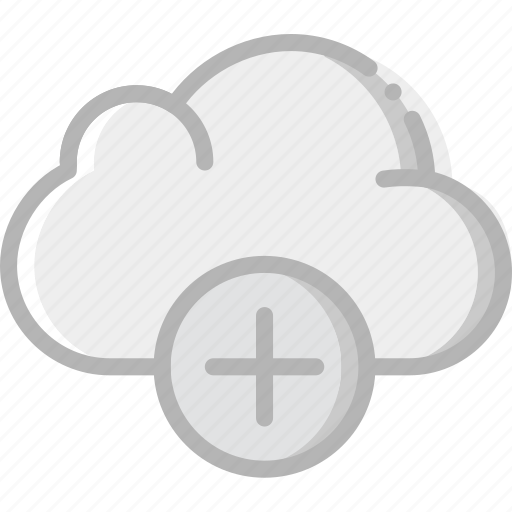 add, cloud, communication, interaction, interface icon