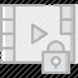 communication, interaction, interface, lock, video icon