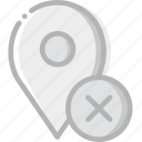 communication, delete, interaction, interface, location icon