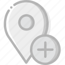 add, communication, interaction, interface, location icon