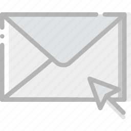 click, communication, interaction, interface, mail icon