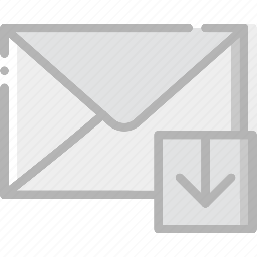 communication, download, interaction, interface, mail icon