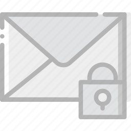 communication, interaction, interface, lock, mail icon