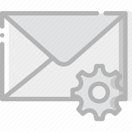 communication, interaction, interface, mail, settings icon