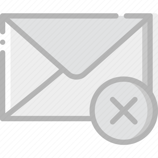 communication, delete, interaction, interface, mail icon