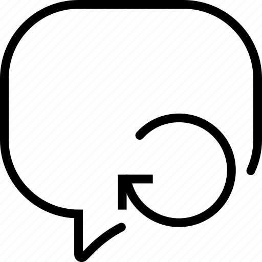 communication, conversation, interaction, interface, refresh icon