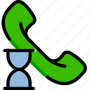 communication, interaction, interface, loading, phonecall icon
