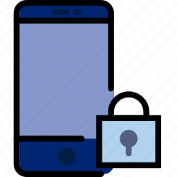 communication, interaction, interface, lock, smartphone icon