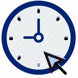 click, clock, communication, interaction, interface icon