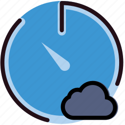 add, cloud, communication, interaction, interface, stopwatch, to icon