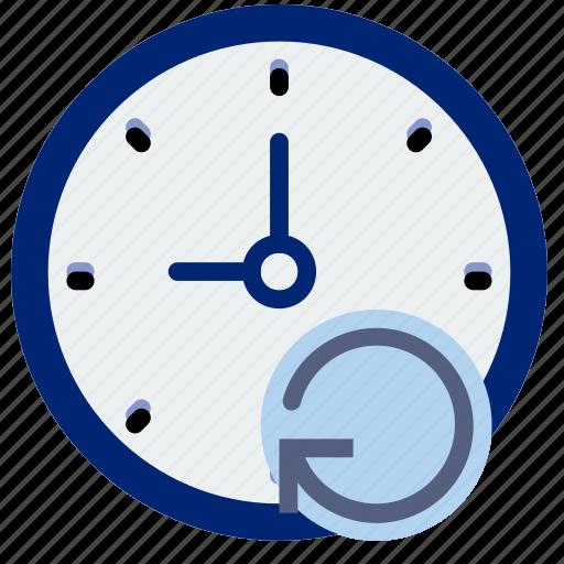 clock, communication, interaction, interface, refresh icon