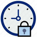 clock, communication, interaction, interface, lock icon