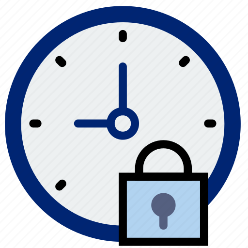clock, communication, interaction, interface, lock icon