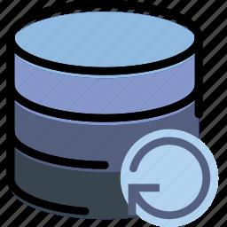communication, database, interaction, interface, refresh icon