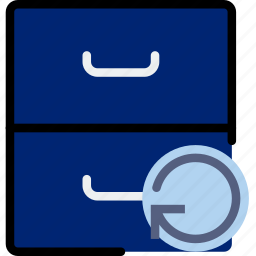 archive, communication, interaction, interface, refresh icon