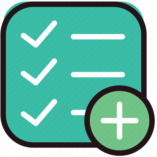add, communication, do, interaction, interface, list, to icon