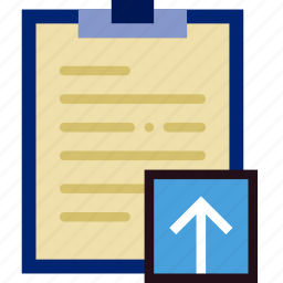 communication, interaction, interface, notes, upload icon