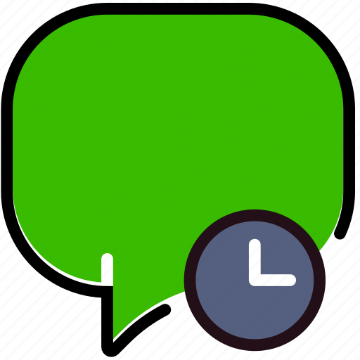 communication, conversation, for, interaction, interface, wait icon