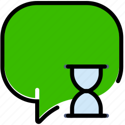 communication, conversation, interaction, interface, loading icon