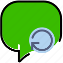 communication, conversation, interaction, interface, refresh icon