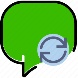 communication, conversation, interaction, interface, sync icon