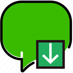 communication, conversation, download, interaction, interface icon